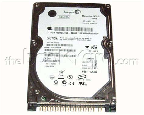 Hardisk Seagate 80gb Ata thebookyard spare parts for apple ibook g3 clamshell