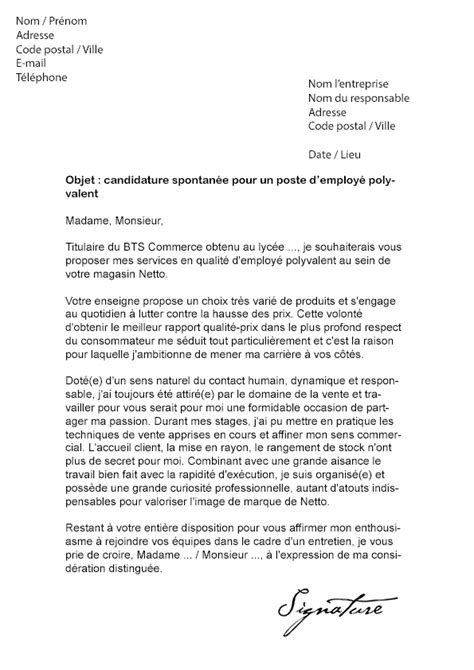 Lettre De Motivation Grande école Lettre De Motivation Netto Mod 232 Le De Lettre
