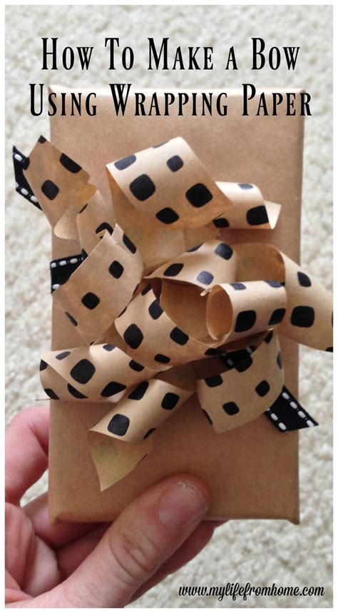 How To Make A Bow From Wrapping Paper - 1000 ideas about wrapping paper bows on paper