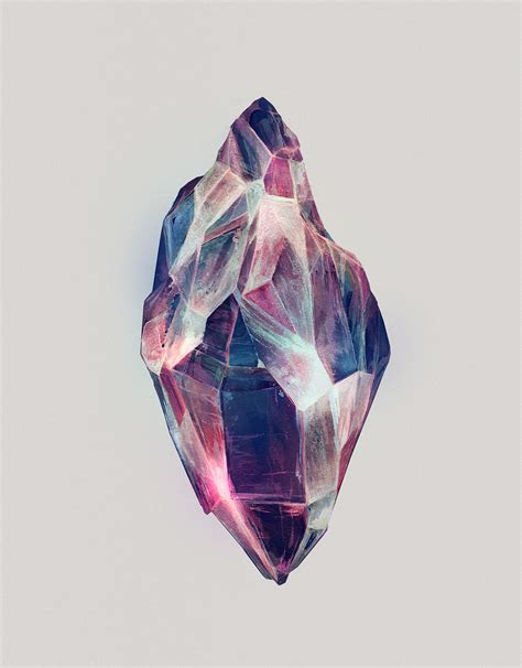 mineral admiration watercolor paintings of crystals by