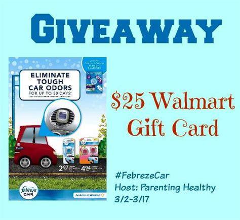Walmart Gift Card Giveaway - febreze car 25 walmart gift card giveaway febrezecar