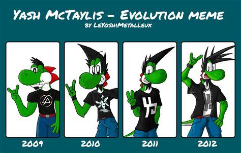 Evo Meme - yash mctaylis evolution meme by mctaylis on deviantart