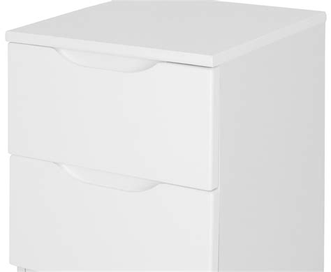 Drawer White 169 trend 2 drawer white high gloss bedside chest just