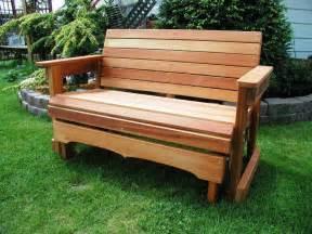 glider garden bench atlantic outdoor glider wood garden bench reviews