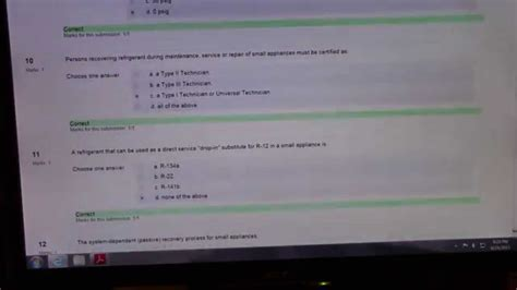 epa section 608 test answers epa class 1 answers youtube