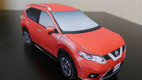 Nissan Papercraft - nissan x trail papercraft time lapse