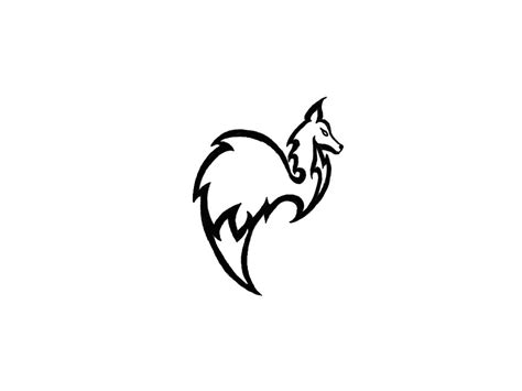 easy tattoo designs to draw tribal fox simple