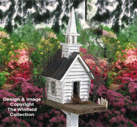winfield collection rustic church birdhouse plan