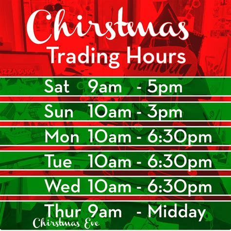 Sweets Workshop Trading Hours Template Free