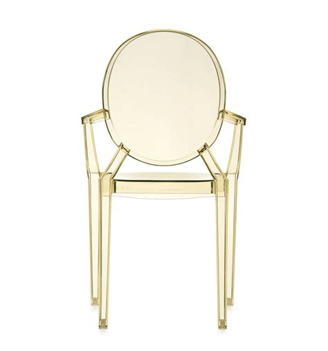 Kartell Chaise by Kartell Chaise Louis Ghost Jaune Polycarbonate