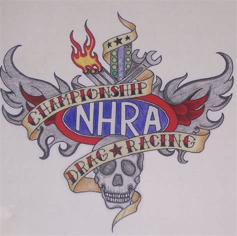 nhra drag racing tattoo 9 5 quot x8 5 quot decal