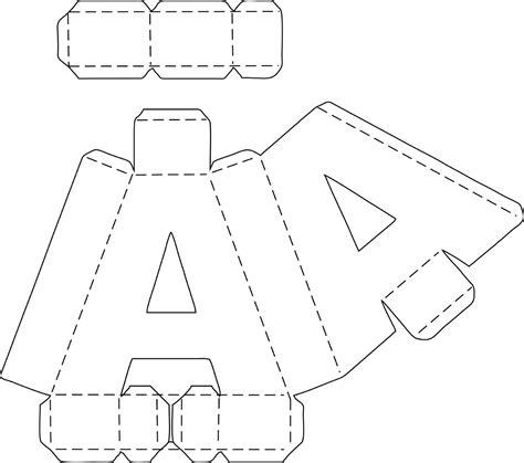 3d letter template letras 3d molde corte manual nos formatos png pdf e