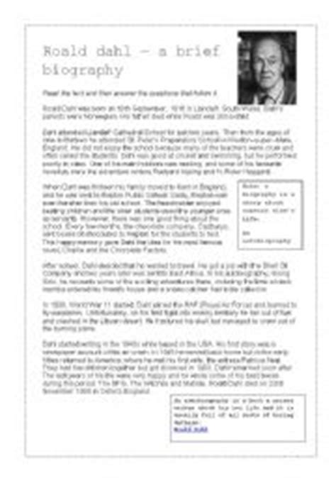 English teaching worksheets: Roald dahl Royal Jelly Roald Dahl