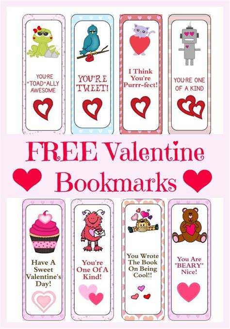 printable bookmarks valentine s day 17 best images about valentine s day printables on