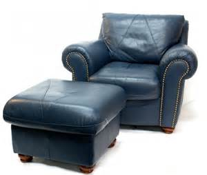 Blue leather chair and ottoman together with natuzzi leather swivel