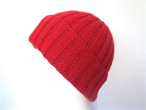 sailor knit cap mens wool hat knit ribbed beanie toque