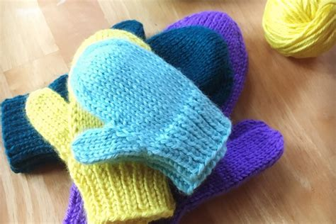 Knitting Patterns For Toddler Mittens Easy