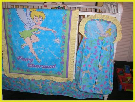 Tinkerbell Crib Bedding New 7 Crib Bedding Set In Blue Tinkerbell
