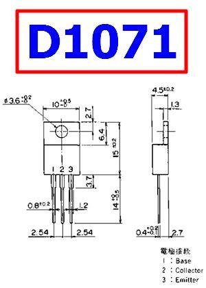 transistor pinout d1071 datasheet vcbo 450v npn transistor fuji