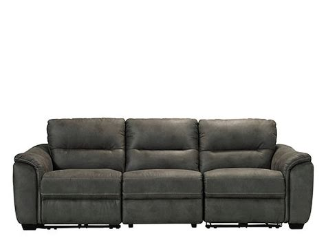 raymour and flanigan microfiber rockland 3 pc microfiber power reclining sectional sofa