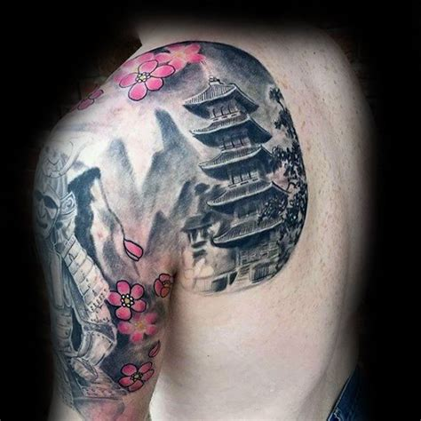 pagoda tattoo designs 60 pagoda designs for tiered tower ink ideas