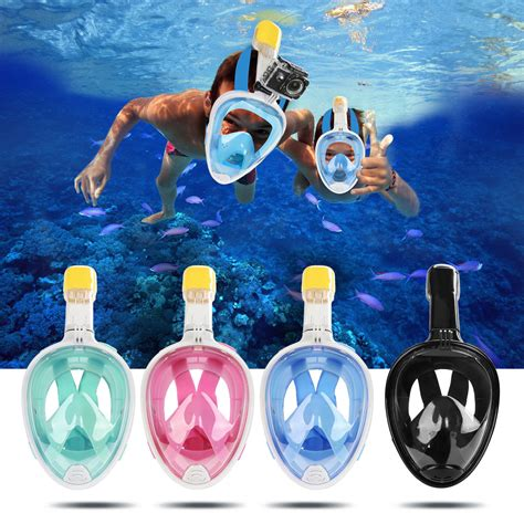 Masker Snorkeling Thenice Hitam Xl L M S new swimming goggles snorkeling diving mask water sports for gopro l x ebay