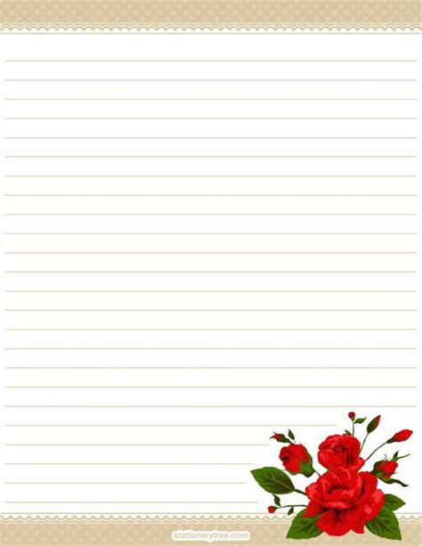 free printable stationary with roses printable rose stationery and writing paper free pdf
