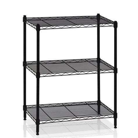 3 Tier Wire Shelving Rack Shelf Unit Garage Kitchen Storage Organizer Ebay Wire Shelving Installation Template