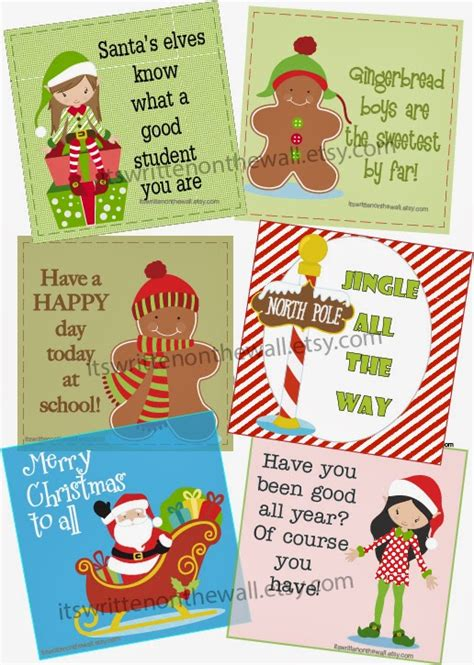 it s written on the wall christmas lunchbox notes for