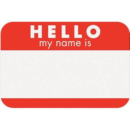 self adhesive name tags 2 1 4 quot x3 1 4 quot 100 pkg hello