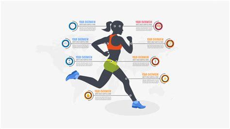 Women Sport Infographic Prezi Presentation Creatoz Collection Sports Graphic Design Templates