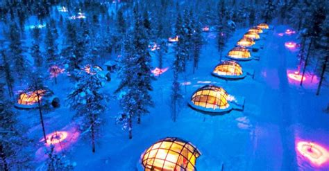 igloo to watch northern lights thermal glass igloos offer views of the northern lights at