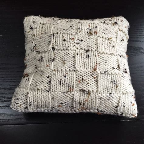 easy knit cushion cover a new challenge the results the crafty gentleman