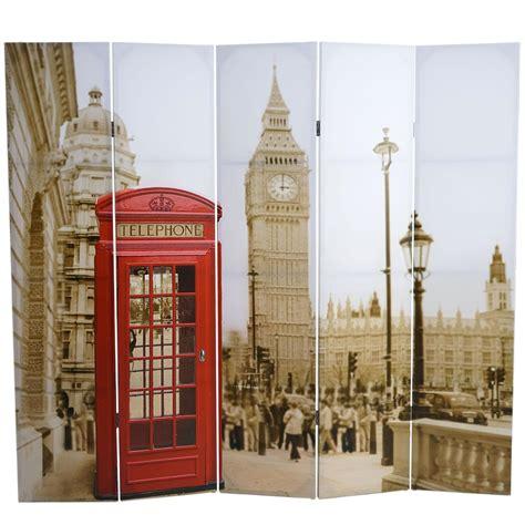 imagenes vintage londres biombo de estilo vintage londres 180x200x2 5cm