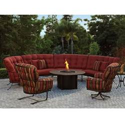 Curved Patio Furniture Set Ow Monterra Curved Outdoor Sectional Set With Pit Table Ow Monterra Set7