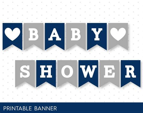 printable grey letters navy blue banner grey banner oh baby banner oh boy