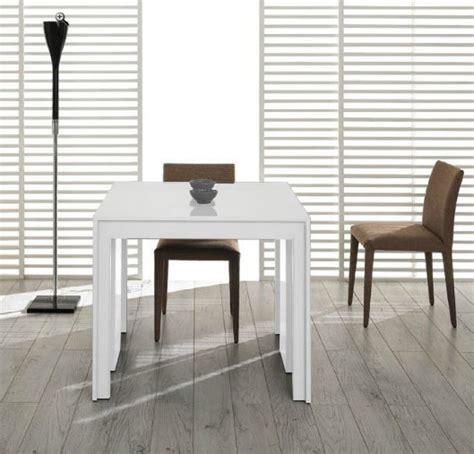 White Extendable Dining Table Modrest Morph Modern Ultra Compact Extendable White Dining Table