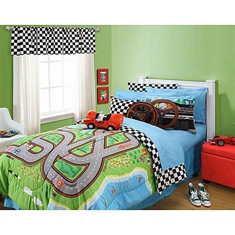 bed bath and beyond kids bedding kas 174 kids raceway comforter set bed bath beyond
