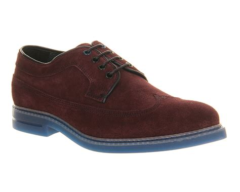 mens ted baker juippita 2 shoe purple suede blue sole