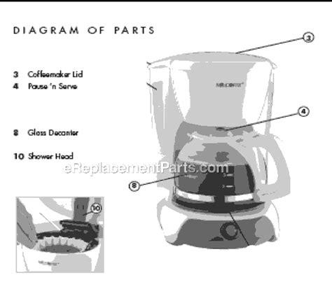 Mr. Coffee VB4 Parts List and Diagram : eReplacementParts.com