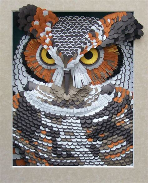 Owl Craft Paper - my owl barn great horned owl paper sculpture
