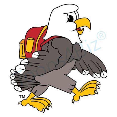 mascot clipart bald eagle mascot backpack clip clipartix