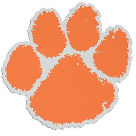tiger paw template clemson tiger paw stencil cliparts co