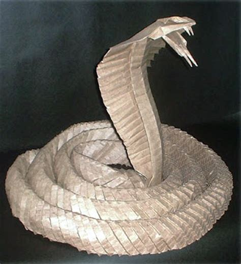 Origami Cobra - 3d origami king cobra 3 1152 wallpaper