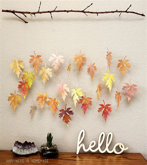 Fall Paper Crafts For Kids - watercolor paper leaf amp branch mobile happiness is homemade