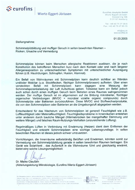 Stellungnahme Schreiben Muster Pdf Kosera Solar Tests Und Zertifikate