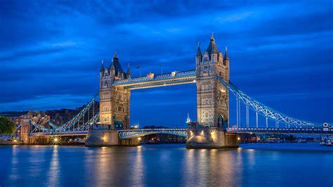 thames river london england england london city night river thames tower bridge blue