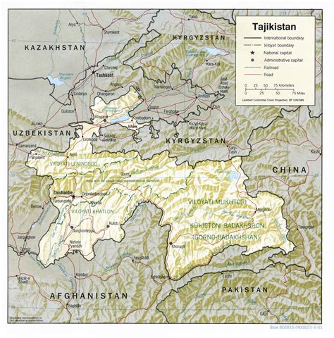 tajikistan map nationmaster maps of tajikistan 11 in total