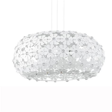 White Flower Pendant Light Eglo 92284 Hanifa White Flower Large Globe Pendant Light