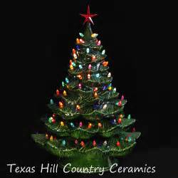 giant ceramic christmas tree 24 inches tall green tree